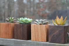 The Best DIY Wood and Pallet Ideas: Beautiful Solid Wood Planters