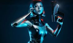 Blackwater Cosplay and photographer Paul Hillier have teamed up to basically bring Mass Effect's EDI to life. Batgirl, Catwoman, Mass Effect Cosplay, Latex Cosplay, Nerd Humor, Almost Perfect, Anime Characters, Fictional Characters, Geek Culture