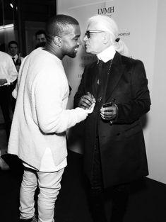 Kanye West et Karl Lagerfeld