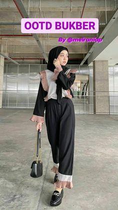 Muslim Fashion, Modest Fashion, Girl Fashion, Fashion Outfits, Casual Hijab Outfit, Ootd Hijab, Casual Outfits, Hijab Fashion Inspiration, Style Inspiration