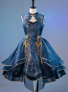 Pretty Outfits, Pretty Dresses, Cool Outfits, Old Fashion Dresses, Fashion Outfits, Mode Emo, Fantasy Gowns, Jumper Dress, Cosplay Outfits