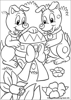 * Easter coloring picture