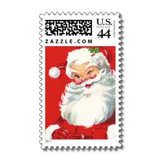 Santa Claus Christmas Postage  Vintage Holiday Postage Stamps  Victorian Christmas Postage is perfect compliment for your Vintage Christmas Cards. Make this a special year and match your cards, stickers and stamps! Don't settle for what the post office has to offer!