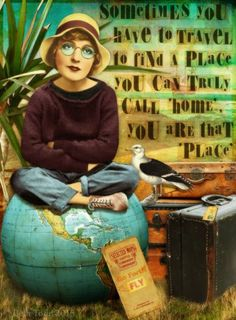 'You Are That Place' © Beth Todd 2015 - All Rights Reserved  Created with goodies from my Tumble Fish Studio's stash! http://www.mischiefcircus.com/shop/manufacturers.php?manufacturerid=29