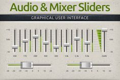 Audio & Mixer Interface Sliders by Creativenauts on Creative Market