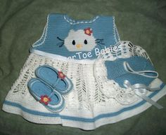 Crochet Pattern Newborn to 3mo  Kitten Dress by SugarToeBabies, Etsy STore ShouT out!  Adorable baby dress!