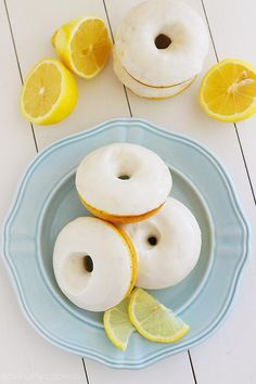 The Comfort of Cooking » Lemon Poppy Seed Donuts with Vanilla Glaze