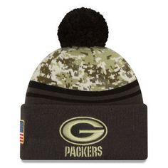 d474449f3e8 Green Bay Packers Salute to Service New Era Beanie 2016