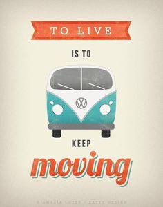 Volkswagen drucken. VW-Poster. Typografie-Poster. von LatteDesign