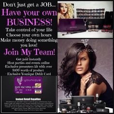 Be your own Boss/ work from the comfort of your couch online with social media. This MLM Direct sales company who has grown 256% faster than all other direct sales is making it to the top. Read the flyer, you get all of this and more. Its a great decision, research it! Join me @ www.JLrockinlashes.com