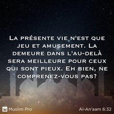Extrait du Coran, Al-An'aam (6:32)