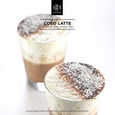 Coco Latte, with Coconut 1883 Syrup. #Barista #Coffee