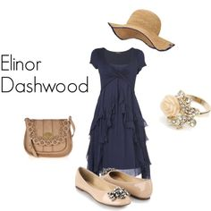 "Elinor Dashwood from Jane Austen's Sense and Sensibility.  ""Sense will always have attractions for me."""