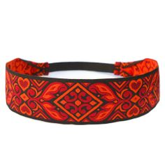 Black, Red and Orange headband by #lovepray #headbands