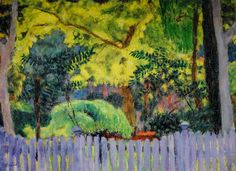 Pierre Bonnard - The Violet Fence, 1923 at Carnegie Museum of Art - Pittsburgh PA