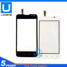 Écran tactile Pour LG Série III L65 D285 Double Sim carte Version Tactile Panneau Avant En Verre de Remplacement Noir Blanc Couleur 1 PC/Lot
