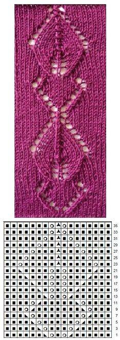 Lace knitting Lace Knitting Stitches, Knitting Charts, Hand Knitting, Knitting Patterns, Crochet Patterns, Lace Patterns, Stitch Patterns, Crochet Motif, Knit Crochet