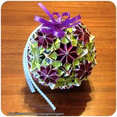18 Scarlet Flowers Origami Bouquet Ball