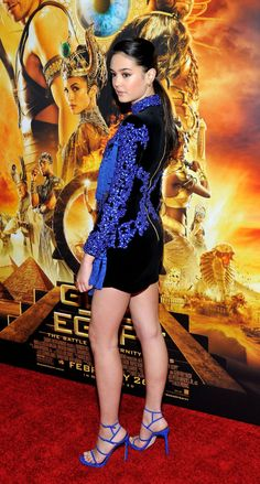 Courtney Eaton at the Gods of Egypt Premiere, New York (24 February, 2016)