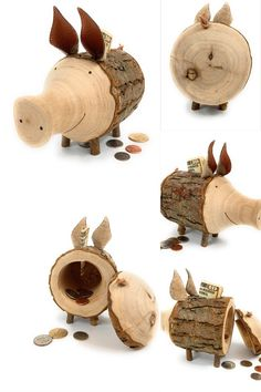is REUSABLE COCONUT WOOD PIGGY BANK MONEYBOX Doesn/'t have to break it