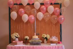 Pink 1st birthday party