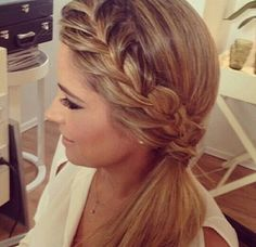 Love for a dance but curl the pony tail! This could be Homecoming or Mardi Gras hair!