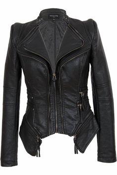 Leren jasje dames zwart Leather City