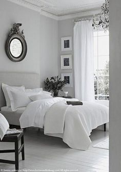 Sleep better thanks to Feng Shui: This is how you optimally furnish your bedroom! - Feng Shui for the bedroom - Feng Shui Bedroom Layout, Beautiful Bedrooms, Bedroom Interior, Home, Interior, Home Bedroom, Bedroom Layouts, White Bedroom Style, Home Decor