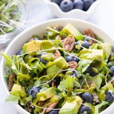 Blueberry Quinoa Power Salad with Lemon-Basil Vinaigrette
