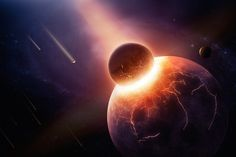 RiseEarth : Head-on collision between Earth, Theia likely created the moon
