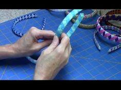 ▶ Woven Ribbon Headband Tutorial - YouTube