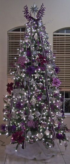 Purple for Christmas 2013 Decor