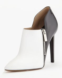 342c793a8cc I have pumps like this but the booties are a step up. I would love these  with ankle jeans and a red sweater. Pencil skirt with leather motorcycle  would be ...