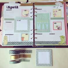 #ShareIG I'm a little ahead but this is my design for the week if 4/20: April showers bring May flowers. Especially dear to me cause my birthday is in May. #filofax #Mayitsmymonth