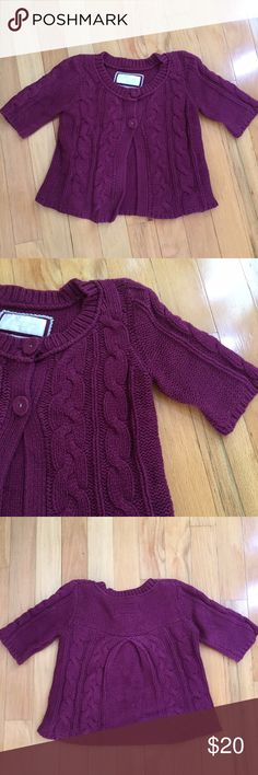 American Eagle Plum Sweater American Eagle Plum Sweater Cardigan with buttons. So cute and only worn once. Size XS. American Eagle Outfitters Sweaters Cardigans