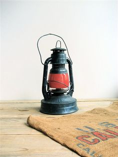 Vintage Barn Lantern by lovintagefinds on Etsy, $39.00
