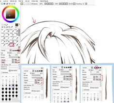 Easy Paint Tool SAI Brushes One limiting thing about SAI is the number of brushes, as well as the difficulty in making them. How to Resize a Brush in SAI. Paint Tool SAI is. Digital Art Tutorial, Digital Painting Tutorials, Painting Tools, Art Tutorials, Sai Brushes, Photoshop Brushes, Photoshop Actions, Lineart Anime, Paint Tool Sai Tutorial