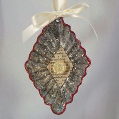 Upcycled Vintage Diamond Shaped Tart Tin Ornament