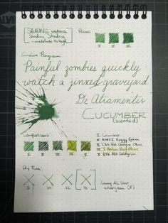 De Atramentis Cucumber Ink Review