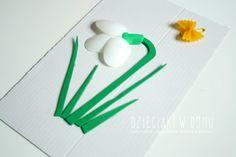 zwiastuny wiosny - przebiśnieg - praca plastyczna dla dzieci