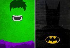 Minimalist superhero posters.
