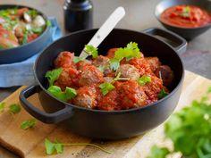 Spanske kjøttboller Tapas, Curry, Beef, Ethnic Recipes, Meat, Curries, Steak
