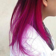 WEBSTA @ umitosnatsuki - ロング➕パッションピンク#表参道#hair #haircut #hairstyle #hairfashion #red#マニパニ #ヘアカラー#ヘアカラー#ムラサキ#pink#ピンク#レッド#美容師 #青山#美容室 #サロン