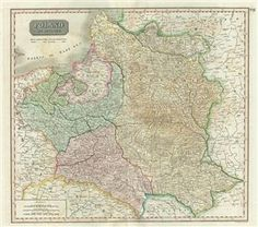 This is an exceptionally fine example of John Thomson's 1817 map of Poland.  Thomson's map covers Poland following Napoleonic Wars and the treaties of the 1815 Congress of Vienna. Twenty earlier, in 1795 The Polish-Lithuanian Commonwealth was dismembered and divided between Russia, Prussia, and Austria.  During Napoleon's brief period of hegemony in the region he resurrected Poland and Polish hopes for solidarity in the form of the Duchy of Warsaw.  Following Napoleon's defeat at the Battle…