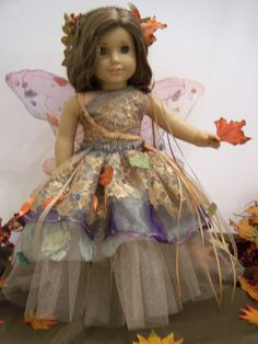Fall Ballerina Fairy Costume for American Girl by DollhouseDesigns, via Etsy