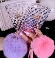 iPhone 6/6S, 6/S Plus - Quilt Studded Pom-Pom & Tassel Case in Assorted Colors