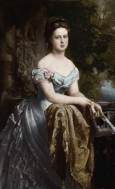 Grand Duchess Maria Alexandrovna of Russia (1853-1920), after her marriage with prince Alfred, the second son of queen Victoria, duchess of Saxe-Coburg and Gotha and duchess of Edinburgh | Gustav Richter (1873)