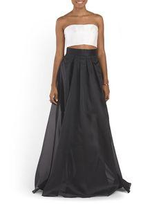 Strapless Organza Gown