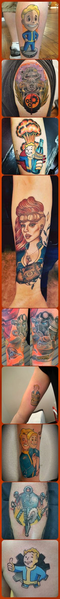 23 Best Fallout 4 Tattoo Ideas http://www.spiritustattoo.com/23-best-fallout-4-tattoo-ideas/