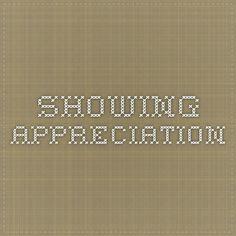 Showing Appreciation